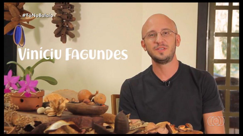 Viníciu Fagundes faz obras de arte com elementos naturais do cerrado